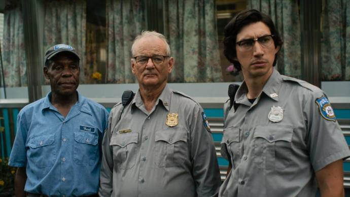 Danny Glover (Hank Thompson), Bill Murray (Cliff Robertson) en Adam Driver (Ronnie Peterson)