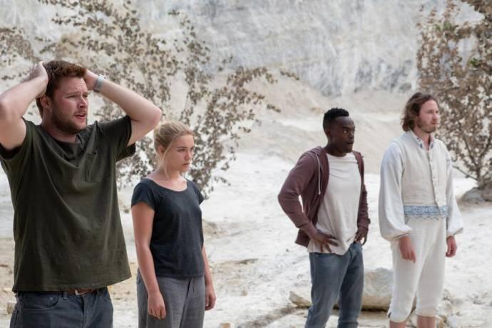 Jack Reynor (Christian), Florence Pugh (Dani), William Jackson Harper (Mark) en Vilhelm Blomgren (Pelle)