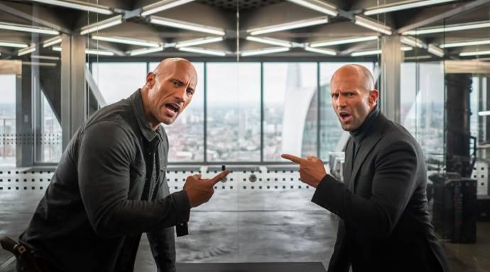 Dwayne Johnson (Hobbs) en Jason Statham (Shaw)
