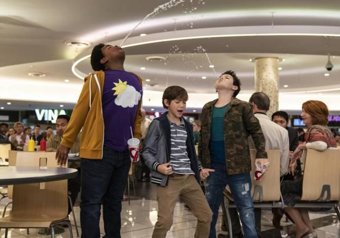 Keith L. Williams (Lucas), Brady Noon (Thor) en Jacob Tremblay (Max)