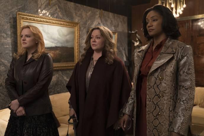 Elisabeth Moss (Claire Walsh), Melissa McCarthy (Kathy Brennan) en Tiffany Haddish (Ruby O'Carroll)