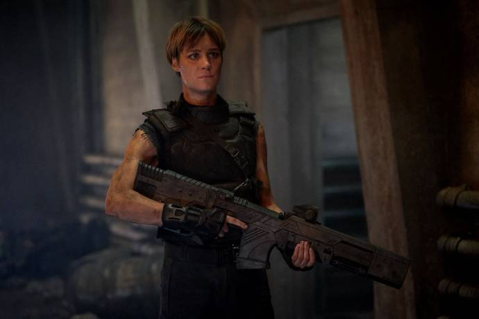 Mackenzie Davis (Grace) in Terminator: Dark Fate