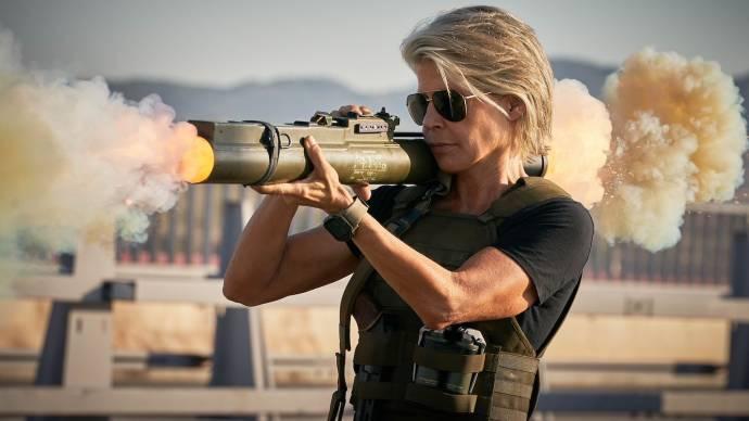 Linda Hamilton (Sarah Connor) in Terminator: Dark Fate