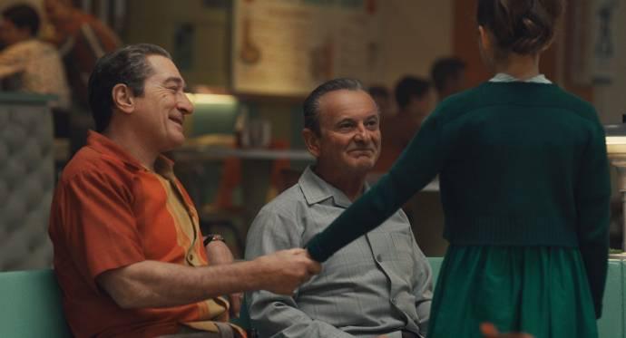 Robert De Niro (Frank Sheeran) en Joe Pesci (Russell Bufalino)