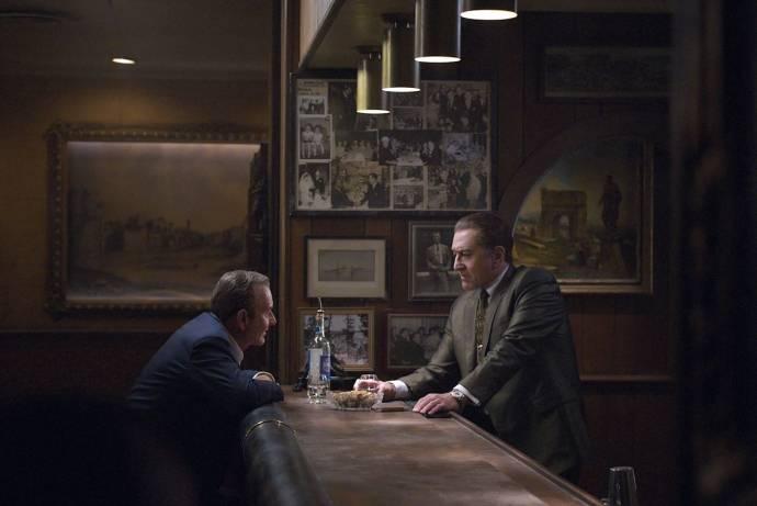 Joe Pesci (Russell Bufalino) en Robert De Niro (Frank Sheeran)