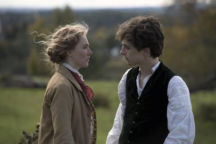 Saoirse Ronan (Jo March) en Timothée Chalamet (Theodore 'Laurie' Laurence)