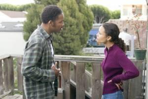 Thandie Newton (Linda) en Will Smith (Chris Gardner)