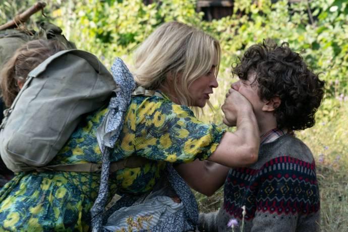 Emily Blunt (Evelyn Abbott) en Noah Jupe (Marcus Abbott)