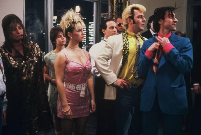 Nelly Frijda (Ma Flodder), Mandy Negerman (Toet Flodder), Tatjana Simic (Dochter Kees Flodder), Huub Stapel (Johnnie Flodder) en René van 't Hof (Zoon Kees Flodder)