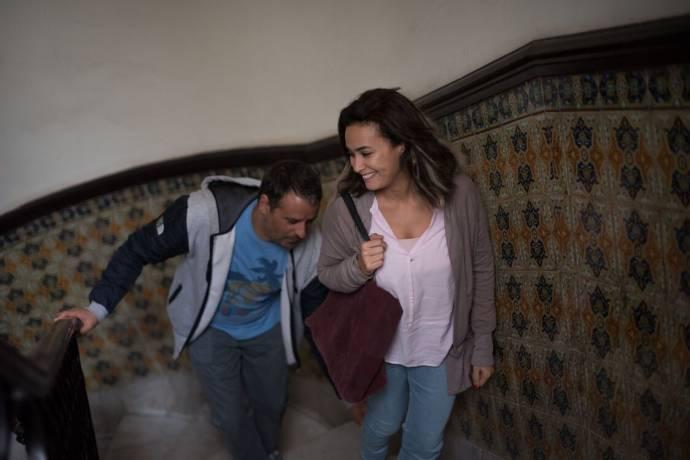 Hakim Boumsaoudi (Lassaad) en Hend Sabri (Noura)