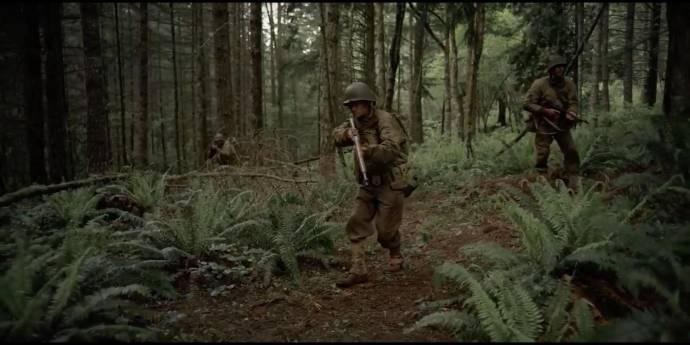 Matthew James McCarthy (Private Michael 'Boston' O'Reilly), Philip Nathanael (Private Benjamin Archer) en Aidan Bristow (Sergeant Gregory Falcone)