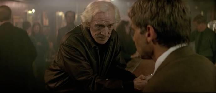 Richard Harris (Paddy O'Neil) en Harrison Ford (Jack Ryan)