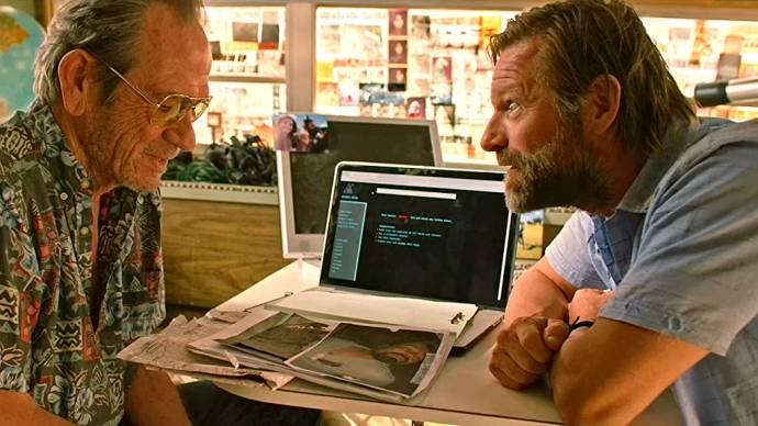 Tommy Lee Jones (Jimmy Cleats) en Aaron Eckhart (Arthur Bretnik)
