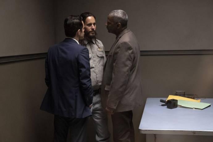 Rami Malek (Jim Baxter), Jared Leto (Albert Sparma) en Denzel Washington (Joe 'Deke' Deacon) in The Little Things