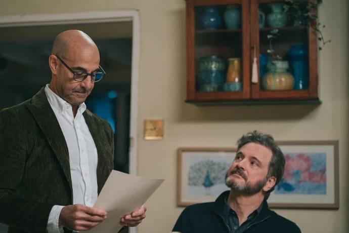 Stanley Tucci (Tusker) en Colin Firth (Sam)