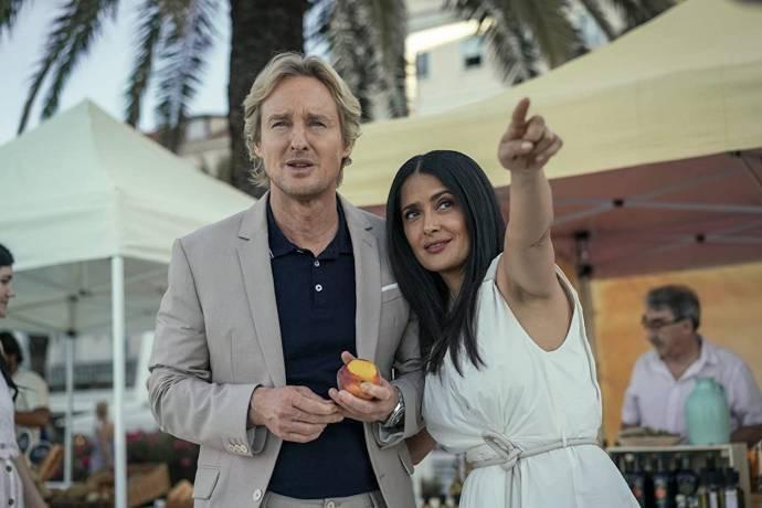 Owen Wilson (Greg) en Salma Hayek (Isabel)