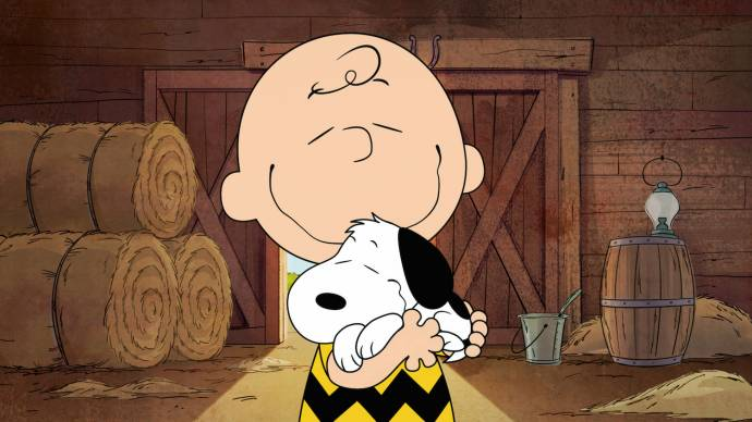 Charlie Brown met Snoopy