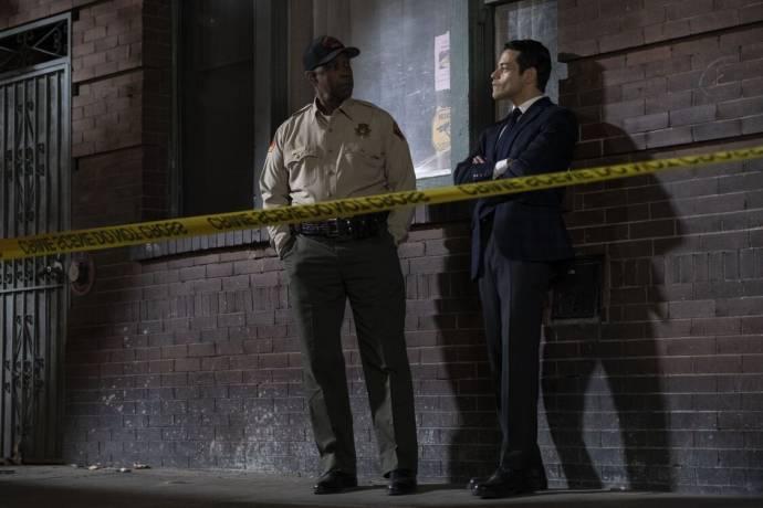 Denzel Washington (Joe 'Deke' Deacon) en Rami Malek (Jim Baxter) in The Little Things