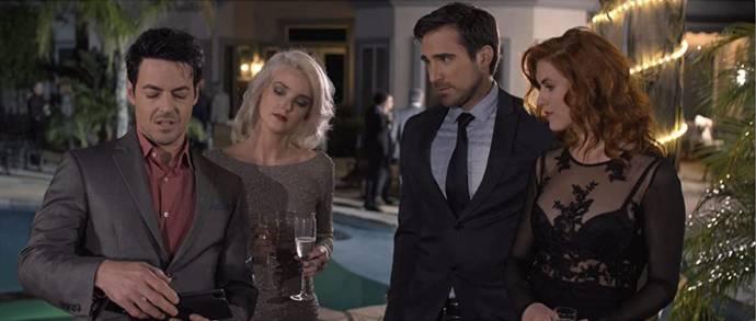 David Scott Lago (Mason Campbell (as David Lago)), Nicole Shelton (Tiffany), Justin Ray (Thomas McKenzie) en Claire Bermingham (Desiree Sinclaire)