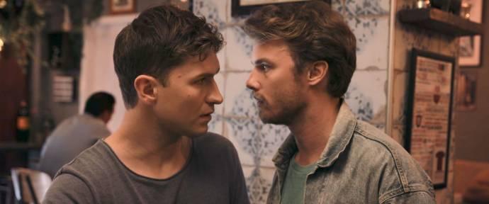 Björn Elgerd (Adrian) en Jonathan Andersson (Hampus) in Are We Lost Forever