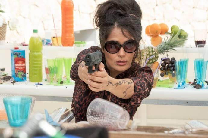 Salma Hayek (Sonia Kincaid) in The Hitman's Wife's Bodyguard