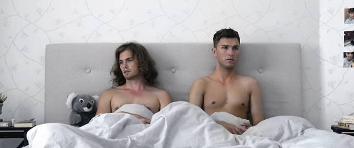 Jonathan Andersson (Hampus) en Björn Elgerd (Adrian) in Are We Lost Forever