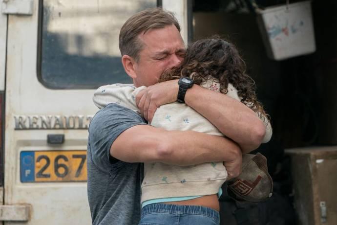Matt Damon (Bill Baker) en Lilou Siauvaud (Maya) in Stillwater