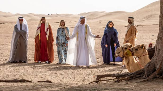 Pirat Nipitpaisalkul (Wick (as Mike Angelo)), Nick Cannon (Ringo), Jamie Chung (Violet), Pierce Brosnan (Pace), Hermione Corfield (Hope) en Rami Jaber (The Prince) in The Misfits
