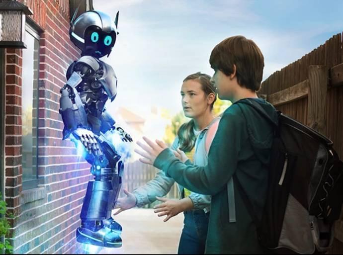 Sophia Alongi (Bethany) en Jude Manley (Noah) in Mijn Robot Vriend A.R.I.