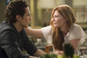 Kirsten Dunst (Mary Jane Watson) en James Franco (Harry Osborn)