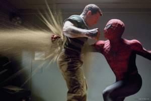 Thomas Haden Church (Flint Marko/Sandman) en Tobey Maguire (Peter Parker/Spider-Man)