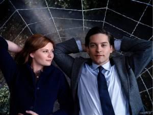 Kirsten Dunst (Mary Jane Watson) en Tobey Maguire (Peter Parker/Spider-Man)