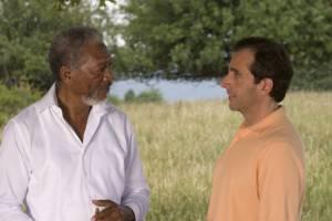 Steve Carell (Evan Baxter) en Morgan Freeman (God)