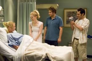 Katherine Heigl (Alison Scott), Leslie Mann (Debbie), Seth Rogen (Ben Stone) en Paul Rudd (Pete)