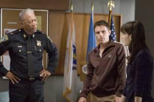 Casey Affleck (Patrick Kenzie), Morgan Freeman (Jack Doyle) en Michelle Monaghan (Angie Gennaro)