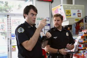 Bill Hader (Officer Slater) en Seth Rogen (Officer Michaels)