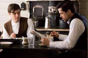 Casey Affleck (Robert Ford) en Brad Pitt (Jesse James)