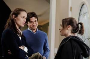 Jason Bateman (Mark Loring), Jennifer Garner (Vanessa Loring) en Ellen Page (Juno MacGuff)