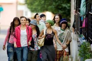 Cassie (Sophie (as Cassie Ventura)), Briana Evigan (Andie), Robert Hoffman (Chase Collins), Mari Koda (Jenny Kido) en Danielle Polanco (Missy) in Step Up 2 the Streets