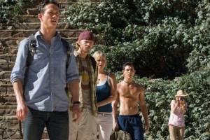 Shawn Ashmore (Eric), Jena Malone (Amy), Laura Ramsey (Stacy) en Jonathan Tucker (Jeff McIntire)