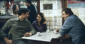 Sergi López (Malo), Cécile Rebboah (Nathalie) en Bruno Salomone (Rémi)