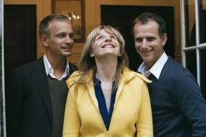 Charles Berling (Frédéric), Juliette Binoche (Adrienne) en Jérémie Renier (Jérémie)