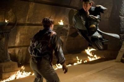 Brendan Fraser (Rick O'Connell) en Jet Li (Emperor Han)