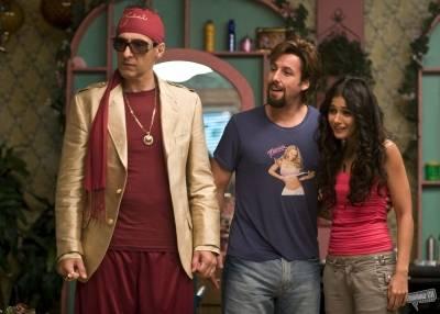 Emmanuelle Chriqui (Dalia), Adam Sandler (Zohan Dvir) en John Turturro (The Phantom)
