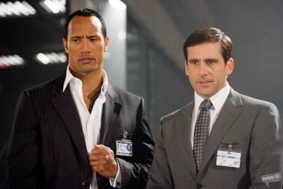Steve Carell (Maxwell Smart) en Dwayne Johnson (Agent 23)