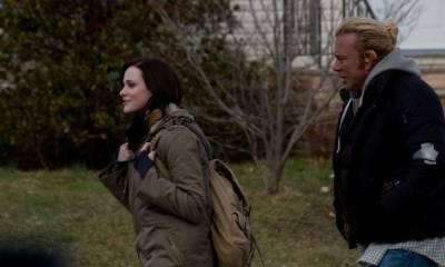 Evan Rachel Wood (Stephanie Robinson) en Mickey Rourke (Randy 'The Ram' Robinson)