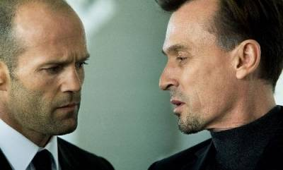 Robert Knepper (Johnson) en Jason Statham (Frank Martin)