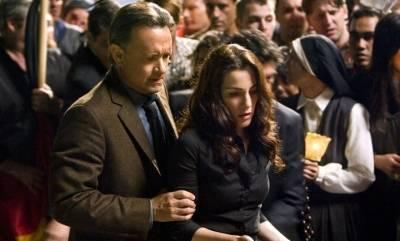 Tom Hanks (Robert Langdon) en Ayelet Zurer (Vittoria Vetra)