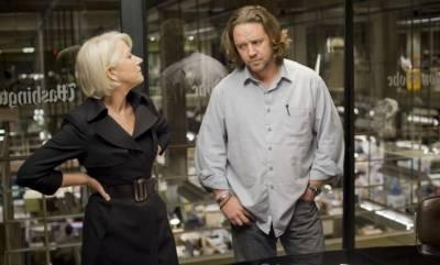 Russell Crowe (Cal McAffrey) en Helen Mirren (Cameron Lynne)