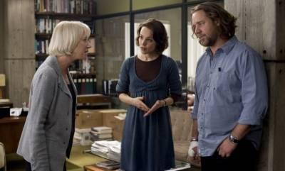 Russell Crowe (Cal McAffrey), Rachel McAdams (Della Frye) en Helen Mirren (Cameron Lynne)